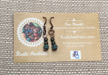 Patina Copper & Clay Druk Czech Glass Earrings