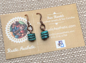 Patina Copper & Copper Earrings