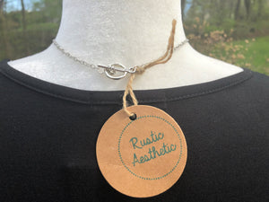 Patina Copper Pipe & Antique Silver Necklace