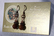 Picasso Jasper & Copper Bali Earrings