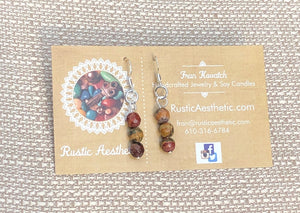 Red Creek Jasper & Silver Earrings