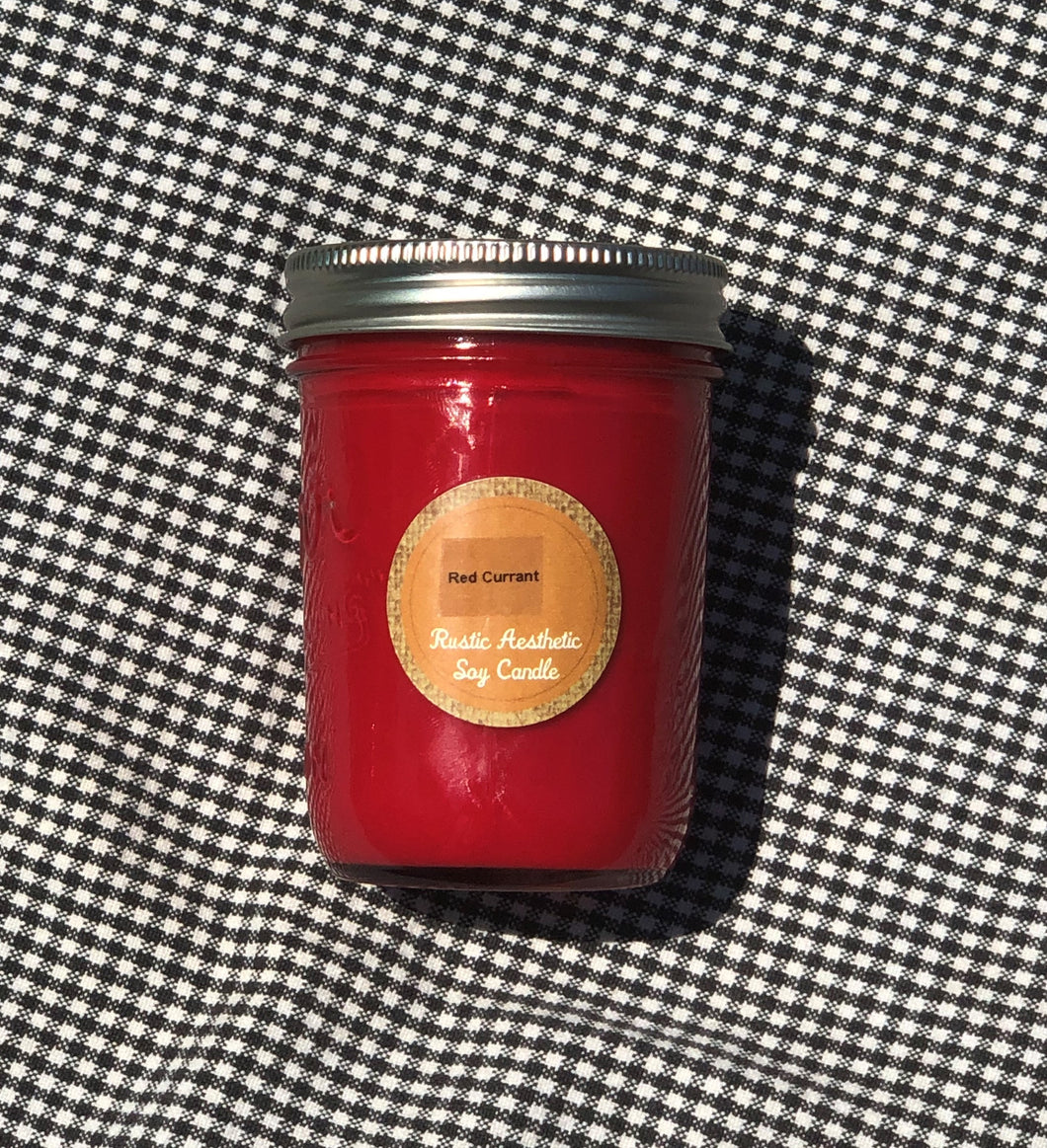 Red Currant Mason Jar Soy Candle