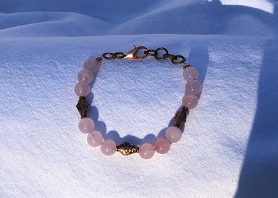 Rose Quartz & Copper Bracelet