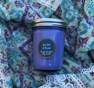 Sea Salt & Orchid Mason Jar Soy Candle