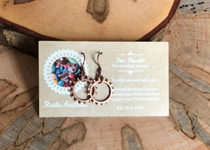 Antique Copper Gear Earrings