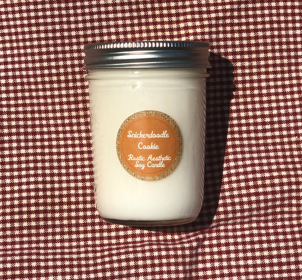 Snickerdoodle Cookie Mason Jar Soy Candle