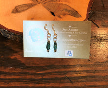 Teardrop Turquoise and Silver Plate Earrings
