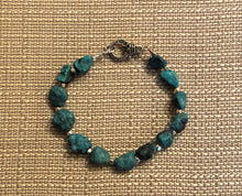 Turquoise Nugget & Silver Bracelet