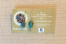 Turquoise Nugget & Silver Earrings
