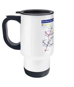 Maps and Signs Tube Map 'Stratford Upon Avon' Travel Mug