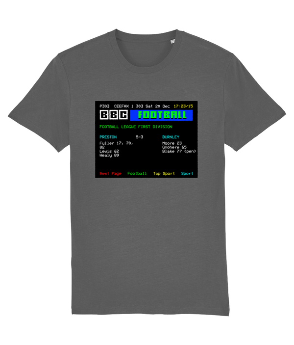 Football Teletext 'PRESTON v Burnley 2003' Unisex T-Shirt