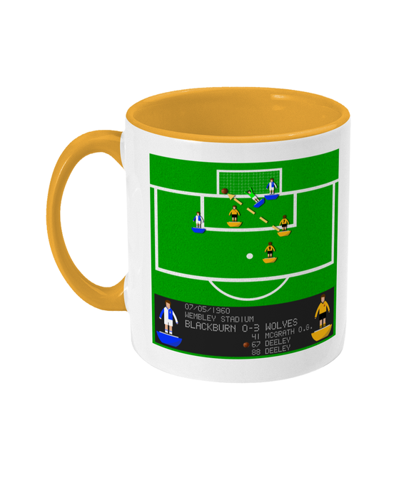 Football Iconic Moment 'Norman Deeley Blackburn Rovers v Wolverhampton Wanderers 1960' Mug