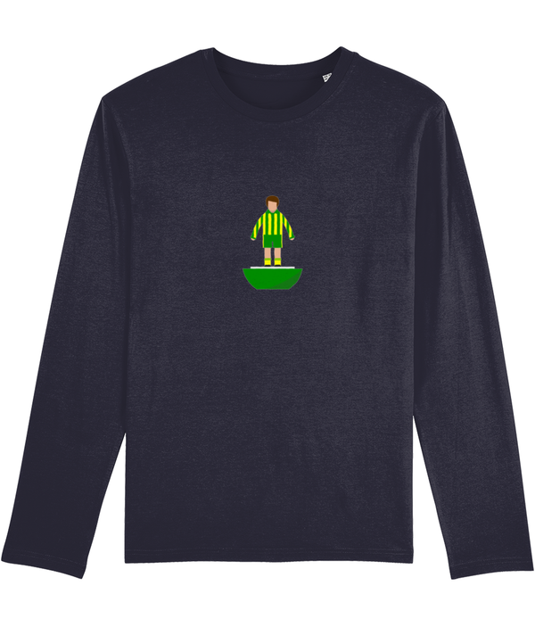 Football Player 'West Bromwich 1978 Mini Print' Men's Long Sleeve