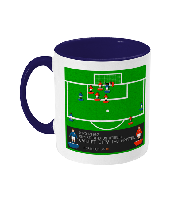 Football Iconic Moment 'Hughie Ferguson Cardiff v Arsenal 1927' Mug