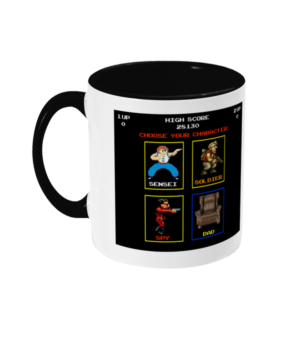 Gaming Gamer Dad 'Choose your character' mug