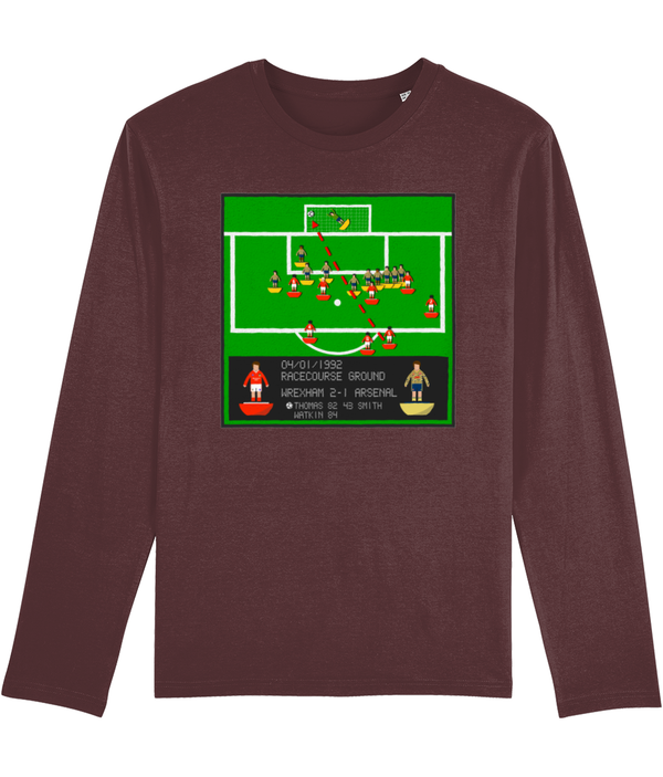 Football Iconic Moment 'Mickey Thomas WREXHAM v Arsenal 1992' Men's Long Sleeve