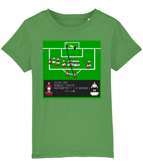 Football Iconic Moment 'John Frain NORTHAMPTON v Swansea City 1997' Children's T-Shirt