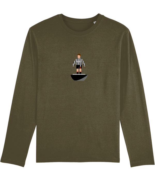 Football Player 'Dunfermline 1986 Mini Print' Men's Long Sleeve