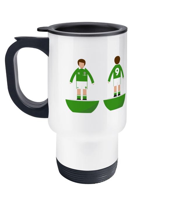Football Player 'Northern Ireland 1982 World Cup' Travel Mug