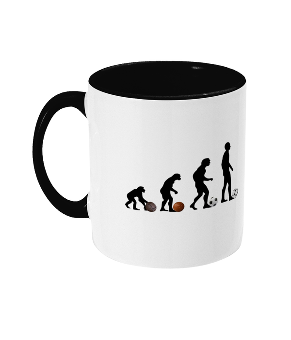 Football Retro 'Evolution of the ball' Mug