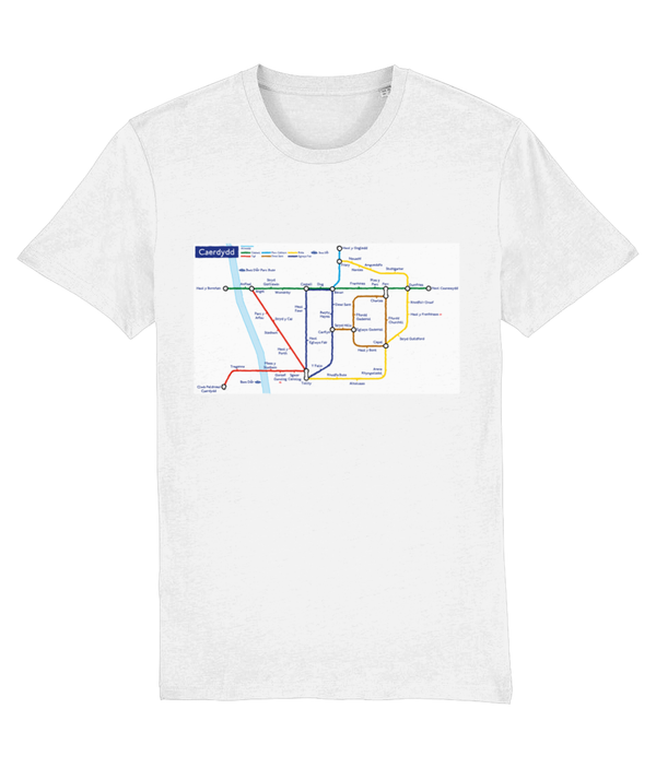 Maps and Signs Tube Map 'Caerdydd' Unisex T-Shirt