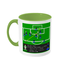 Football Iconic Moment 'Stevie Chalmers Celtic v Inter Milan 1967' Mug