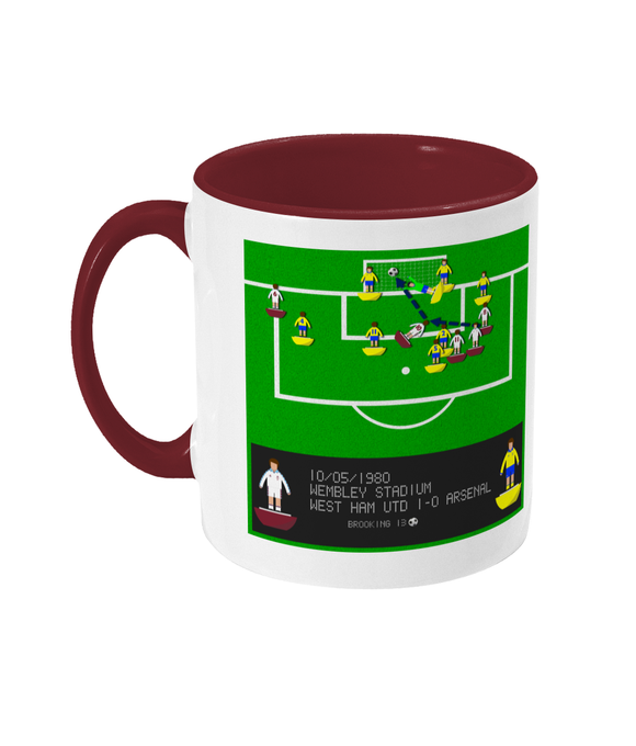 Football Iconic Moment 'Trevor Brooking West Ham v Arsenal 1980' Mug