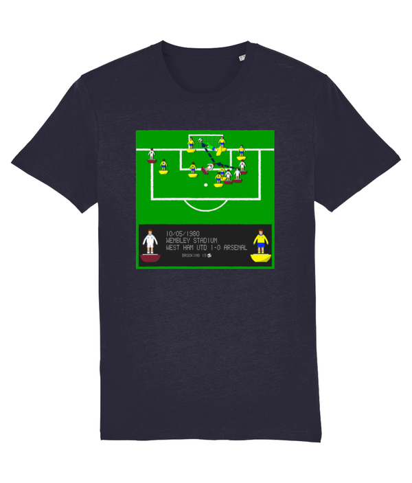 Football Iconic Moment 'Trevor Brooking WEST HAM v Arsenal 1980' Unisex T-Shirt