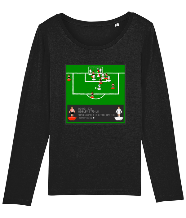 Football Iconic Moment 'Ian Porterfield SUNDERLAND v Leeds 1973' Ladies Long Sleeve