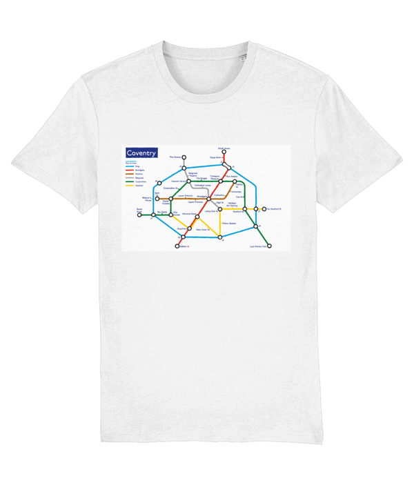 Maps and Signs Tube Map 'Coventry' Unisex T-Shirt
