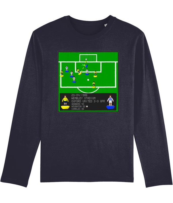 Football Iconic Moment 'Ray Houghton OXFORD U v QPR 1986' Men's Long Sleeve