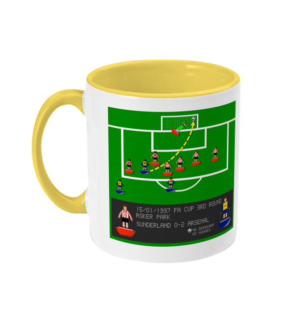 Football Iconic Moment 'Dennis Bergkamp Sunderland v Arsenal 1997' Mug