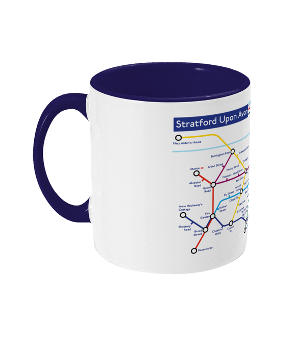 Maps and Signs Tube Map 'Stratford Upon Avon' Mug