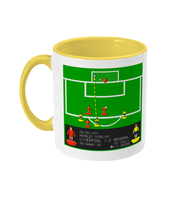 Football Iconic Moment 'Charlie George Arsenal v Liverpool 1971' Mug