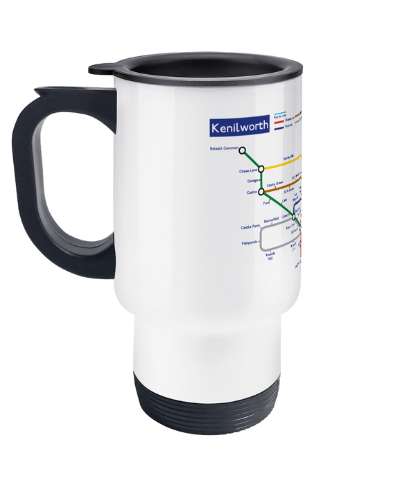 Maps and Signs Tube Map 'Kenilworth' Travel Mug
