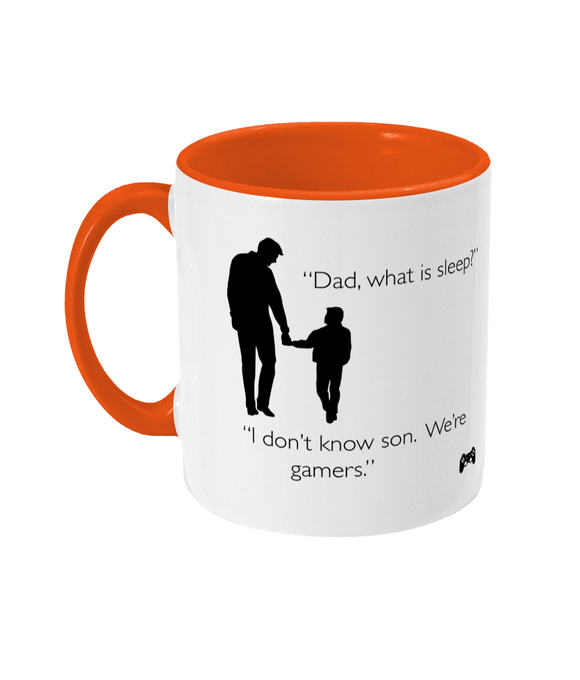 Gaming Gamer Dad 'What is sleep?' Black Text Mug