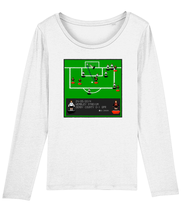 Football Iconic Moment 'Bobby Zamora Derby County v QPR 2014' Ladies Long Sleeve
