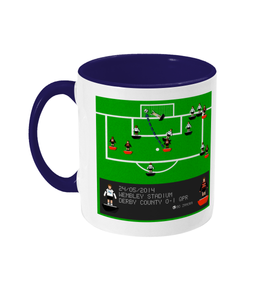 Football Iconic Moment 'Bobby Zamora Derby County v QPR 2014' Mug