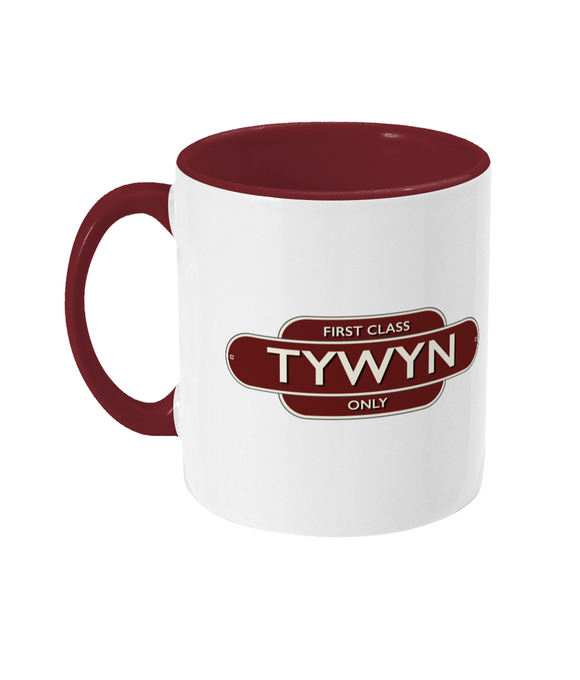 Maps and Signs Station Sign 'Tywyn' Mug