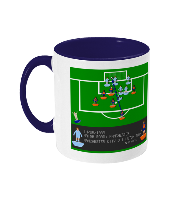 Football Iconic Moment 'Raddy Antic Manchester C v LUTON 1983' Mug