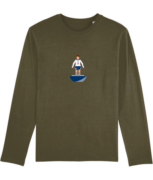 Football Player 'England 1998 Mini Print' Men's Long Sleeve