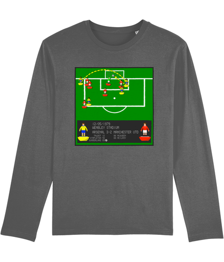 Football Iconic Moment 'Alan Sunderland ARSENAL v Manchester U 1979' Men's Long Sleeve