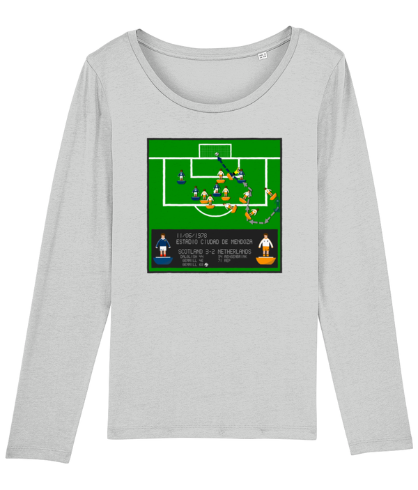Football Iconic Moment 'Archie Gemmill SCOTLAND v Netherlands 1978'  Ladies Long Sleeve