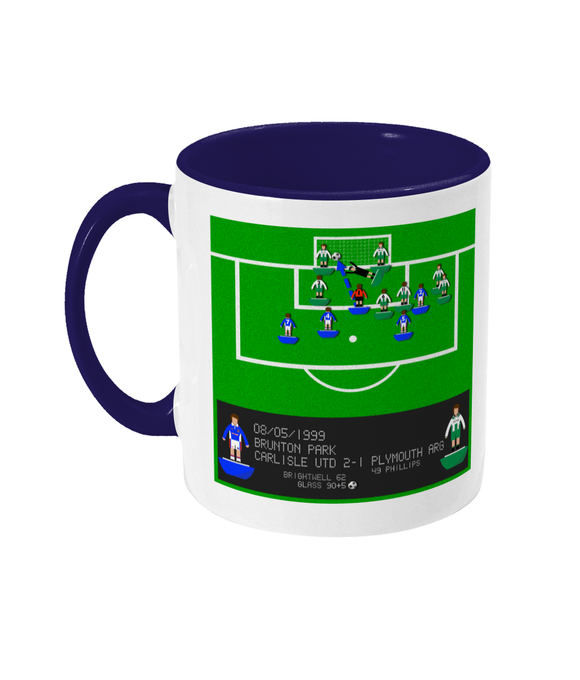 Football Iconic Moment 'Jimmy Glass Carlisle United v Plymouth Argyle 1999' Mug