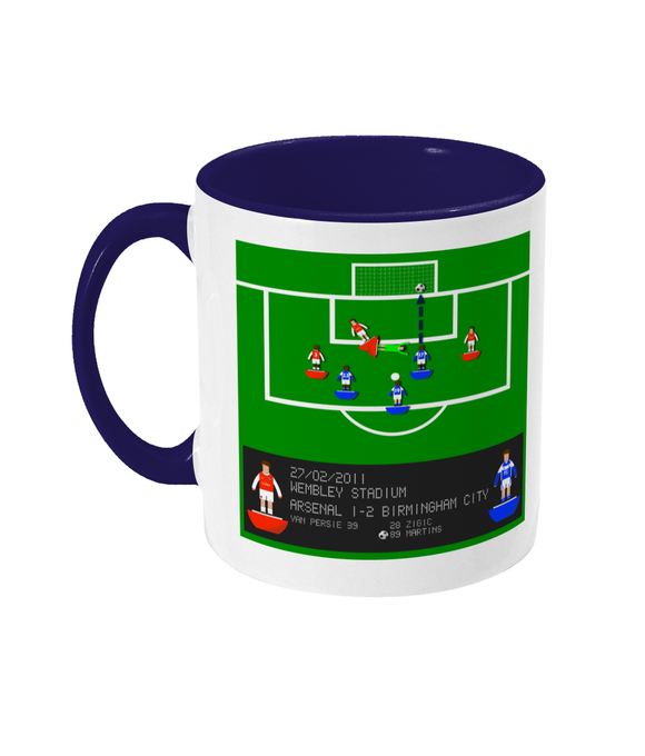 Football Iconic Moment 'Obafemi Martins Arsenal v Birmingham City 2011' Mug