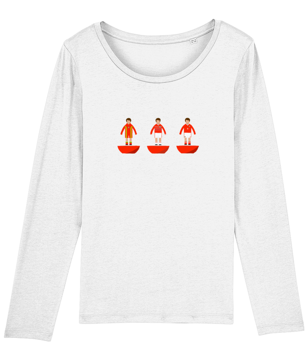 Football Player 'Wales Combined Mini Print' Ladies Long Sleeve