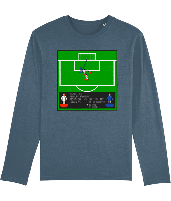 Football Iconic Moment 'George Best Benfica v MANCHESTER U 1968' Men's Long Sleeve