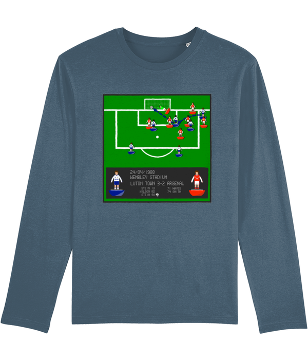 Football Iconic Moment 'Brian Stein LUTON v Arsenal 1988' Men's Long Sleeve