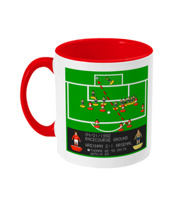 Football Iconic Moment 'Mickey Thomas Wrexham v Arsenal 1992' Mug