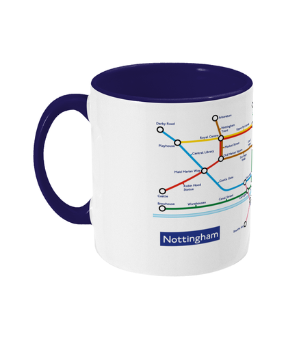 Maps and Signs Tube Map 'Nottingham' Mug